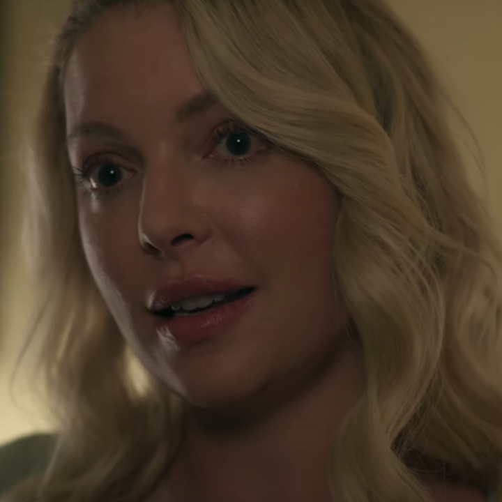 A closeup of Rain's mum (played by Katherine Heigl)