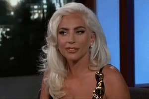 An image of Lady Gaga looking slightly annoyed