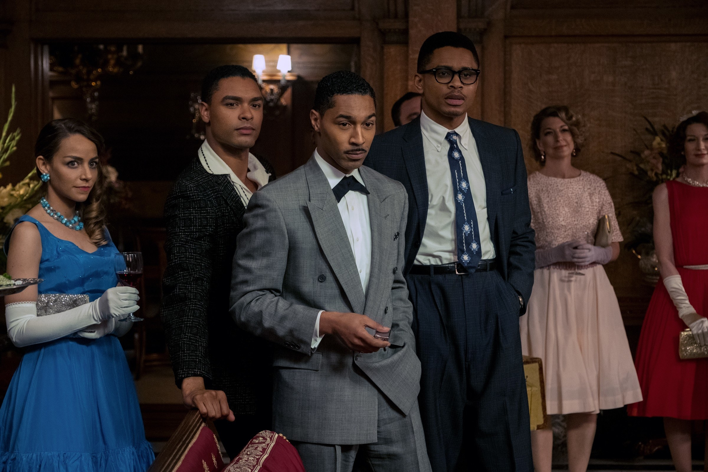 Rege-Jean Page, Tone Bell, and Nnamdi Asomugha in Sylvie's Love