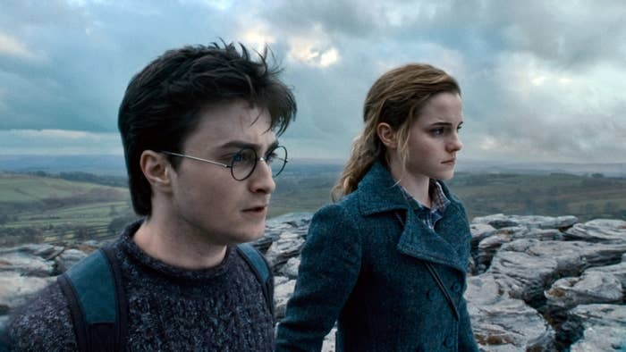 Daniel Radcliffe and Emma Watson in Harry Potter and the Deathly Hallows: Part 1