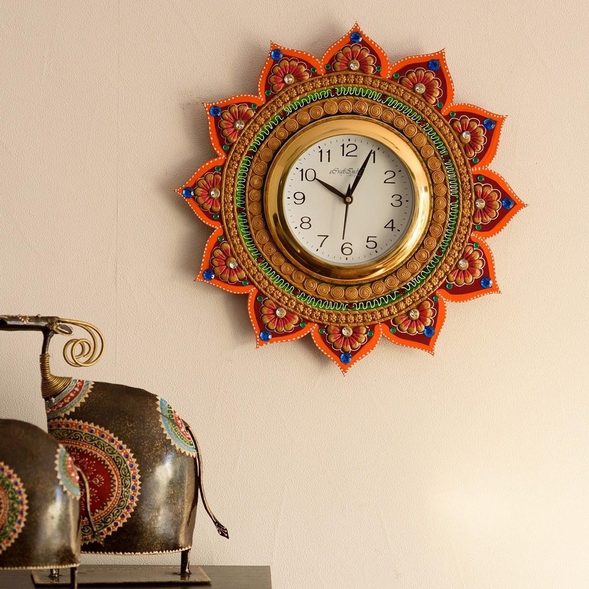 A colourful wall clock