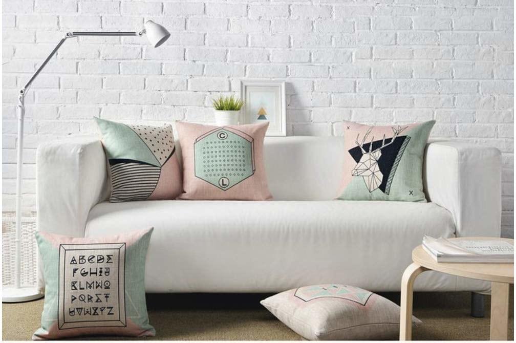 Pastel cushions on a sofa