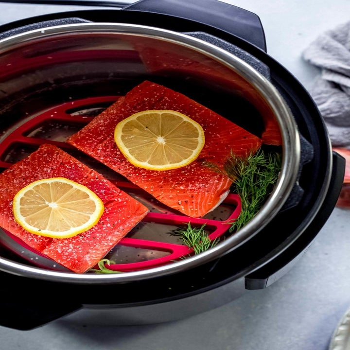 Raw salmon filets in Instant Pot