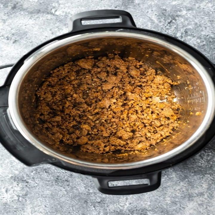Ground turkey in Instant Pot