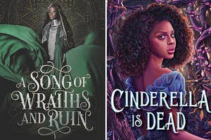 (left) A Song of Wraiths and Ruin book cover; (right) Cinderella is Dead book cover
