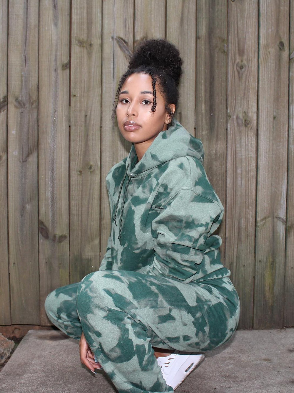 the camo sweat suit