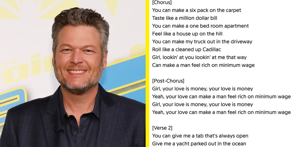 """Image of article 'Blake Shelton Responded To Backlash Over His Song """"Minimum Wage"""" After People Called It """"Tone Deaf'"""