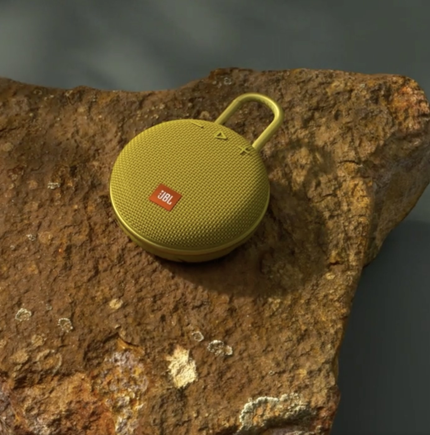 A yellow clip speaker