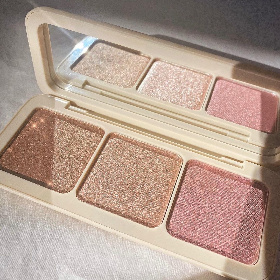 Custom Enhancer Palette with three sparkly shades