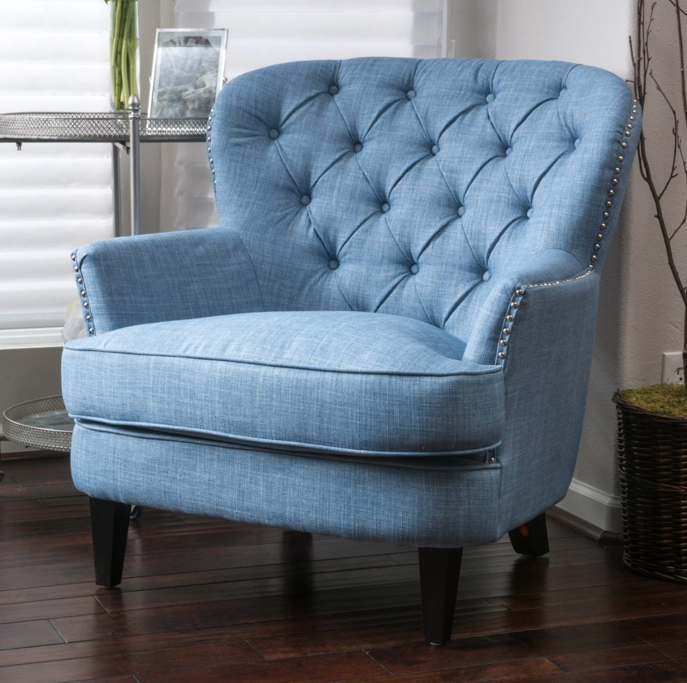 The club chair in light blue