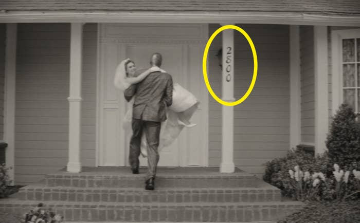 "A circle around the number ""2800"" on Wanda and Vision's house"