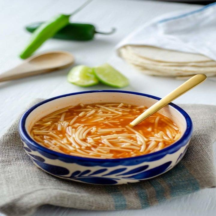 A bowl of Mexican noodle soup (sopa de fideo).
