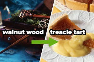 walnut wood wand equals treacle tart