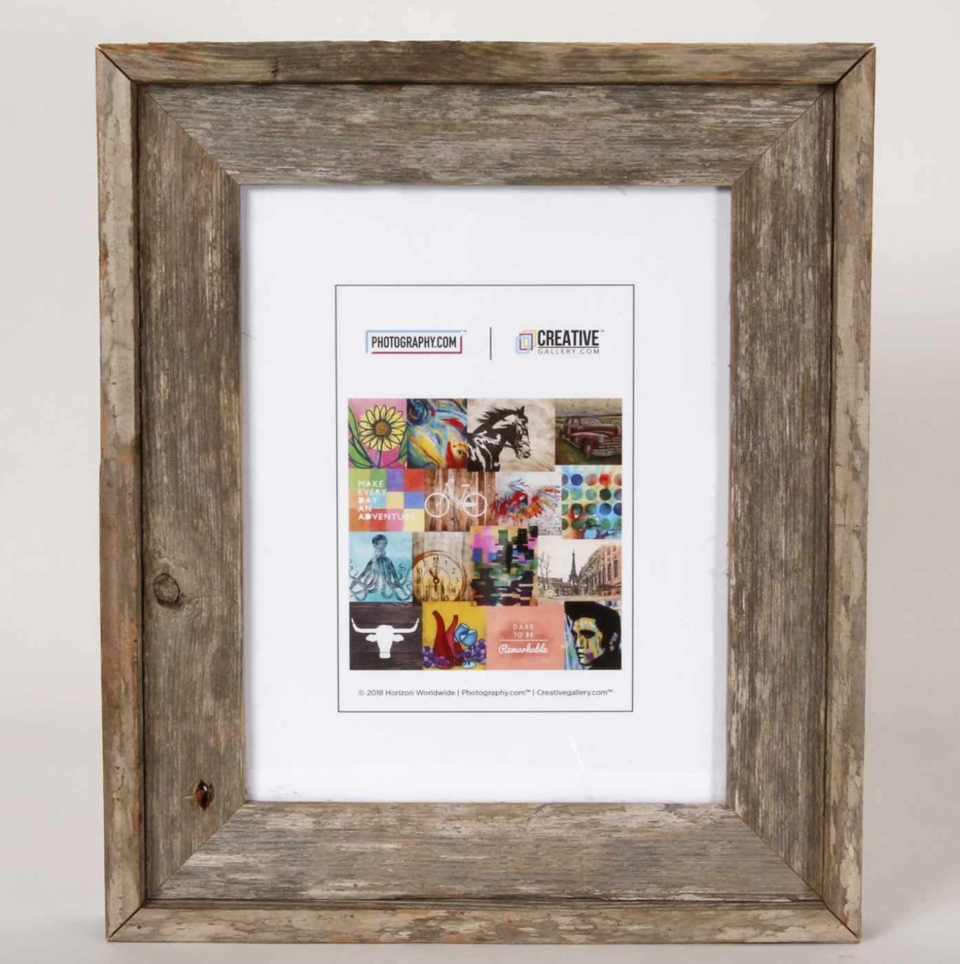 The wooden picture frame