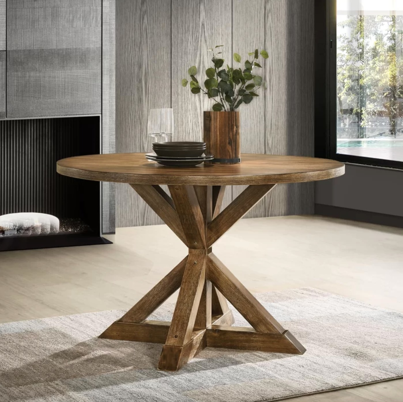 The small circular table