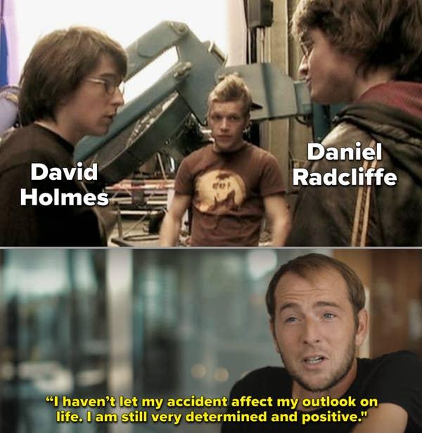 Cuplikan di balik layar dari Holmes dan Radcliffe bersama