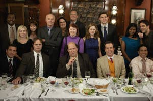 The cast of The Office in the episode