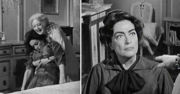 Bette menggendong Joan Crawford di film itu