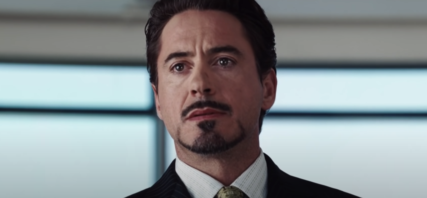 "Robert Downey Jr. as Tony Stark/Iron Man in ""Iron Man"""