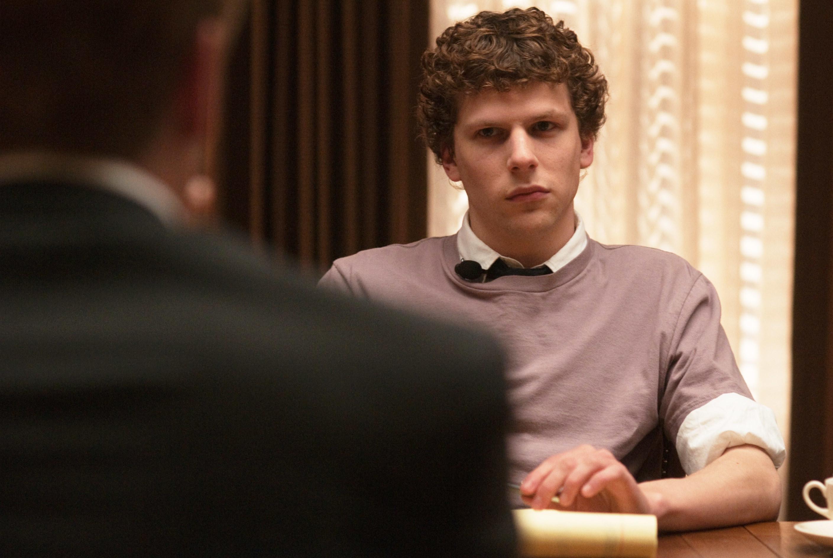 """Jesse Eisenberg as Mark Zuckerberg in """"The Social Network"""""""