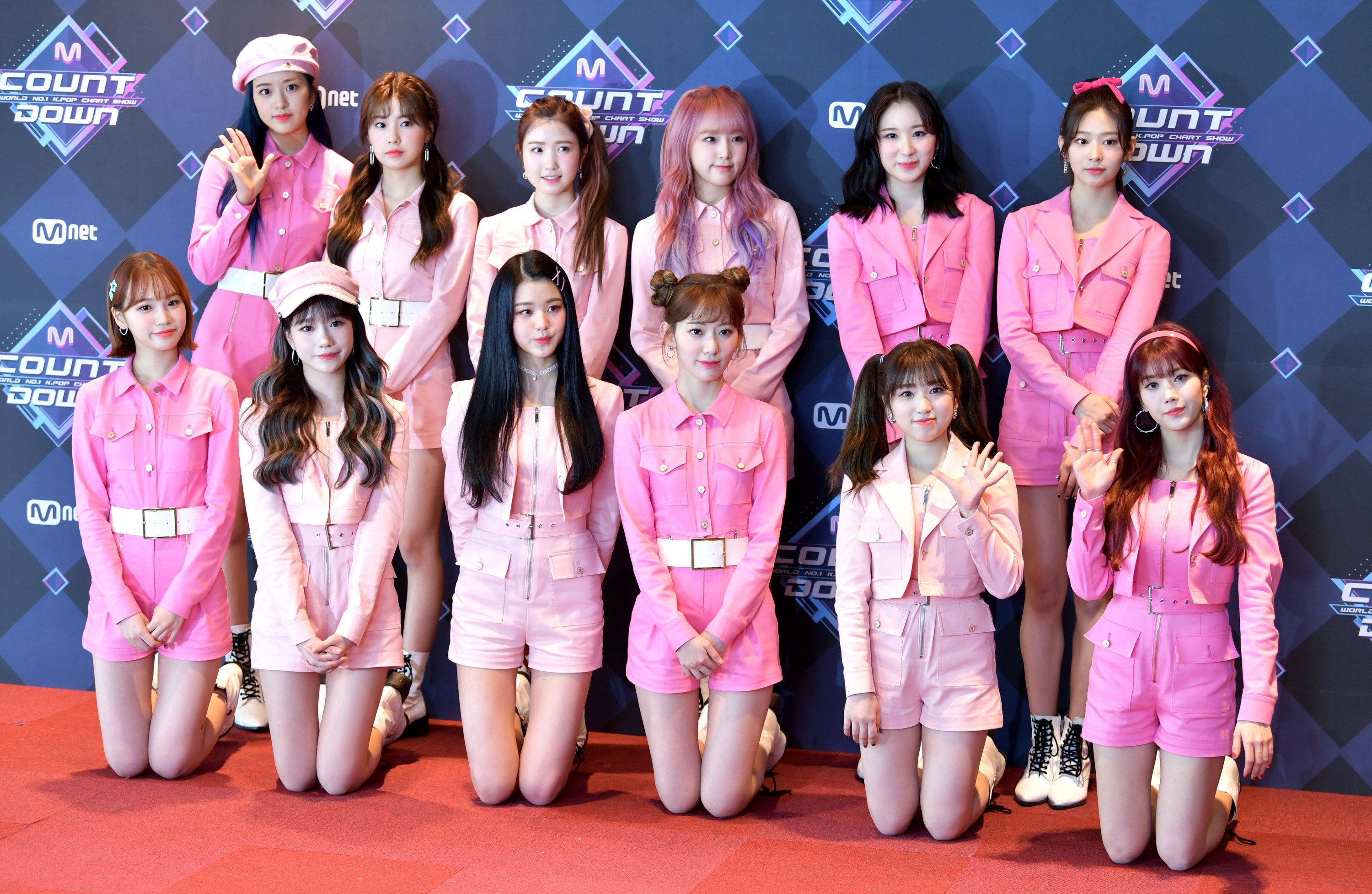 Iz*One attends the photocall for Mnet M Countdown at CJ E&M Center on February 20, 2020 in Seoul, South Korea. (Photo by THE FACT/Imazins via Getty Images)