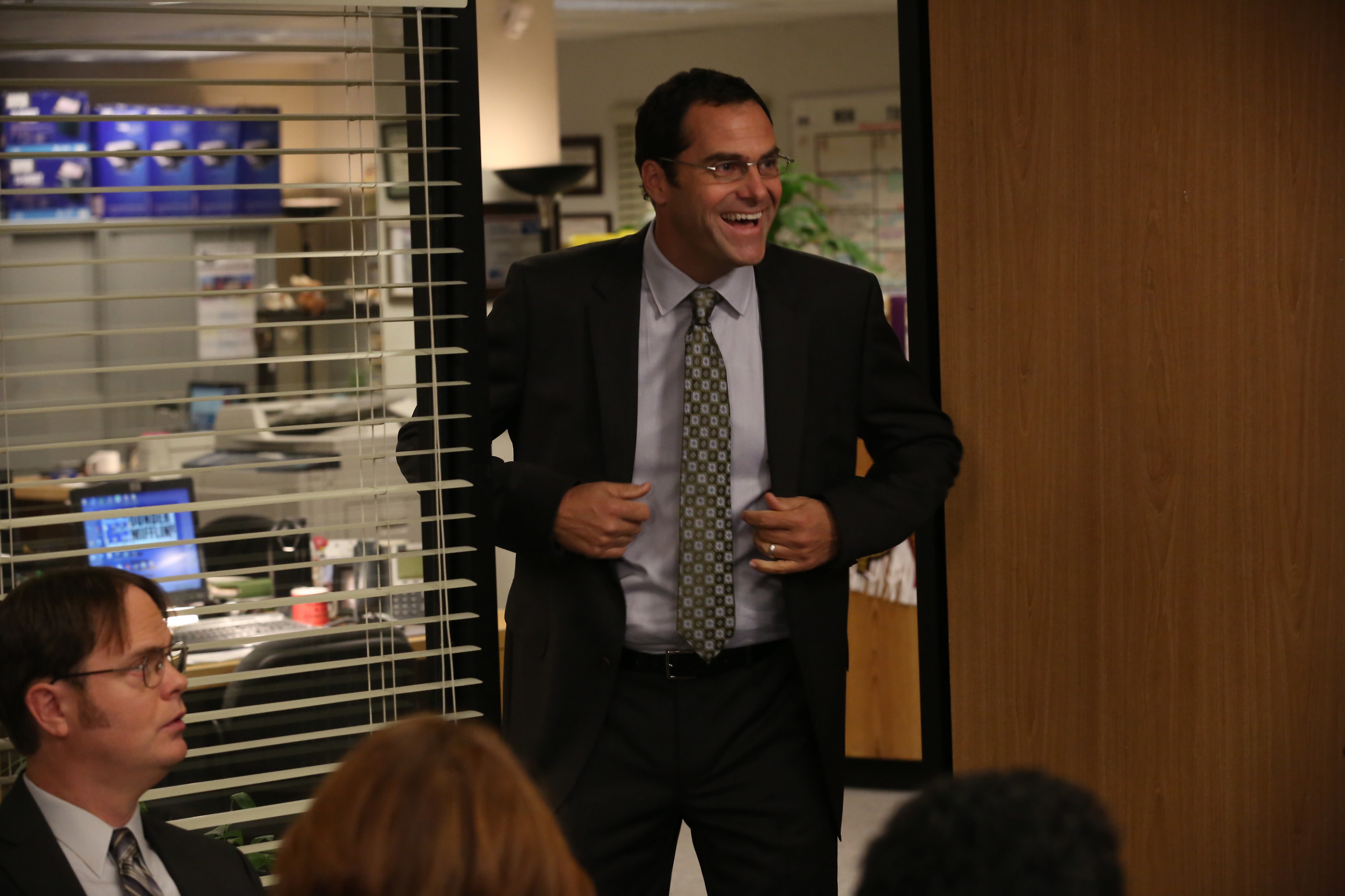 Andy Buckley as David Wallace on The Office