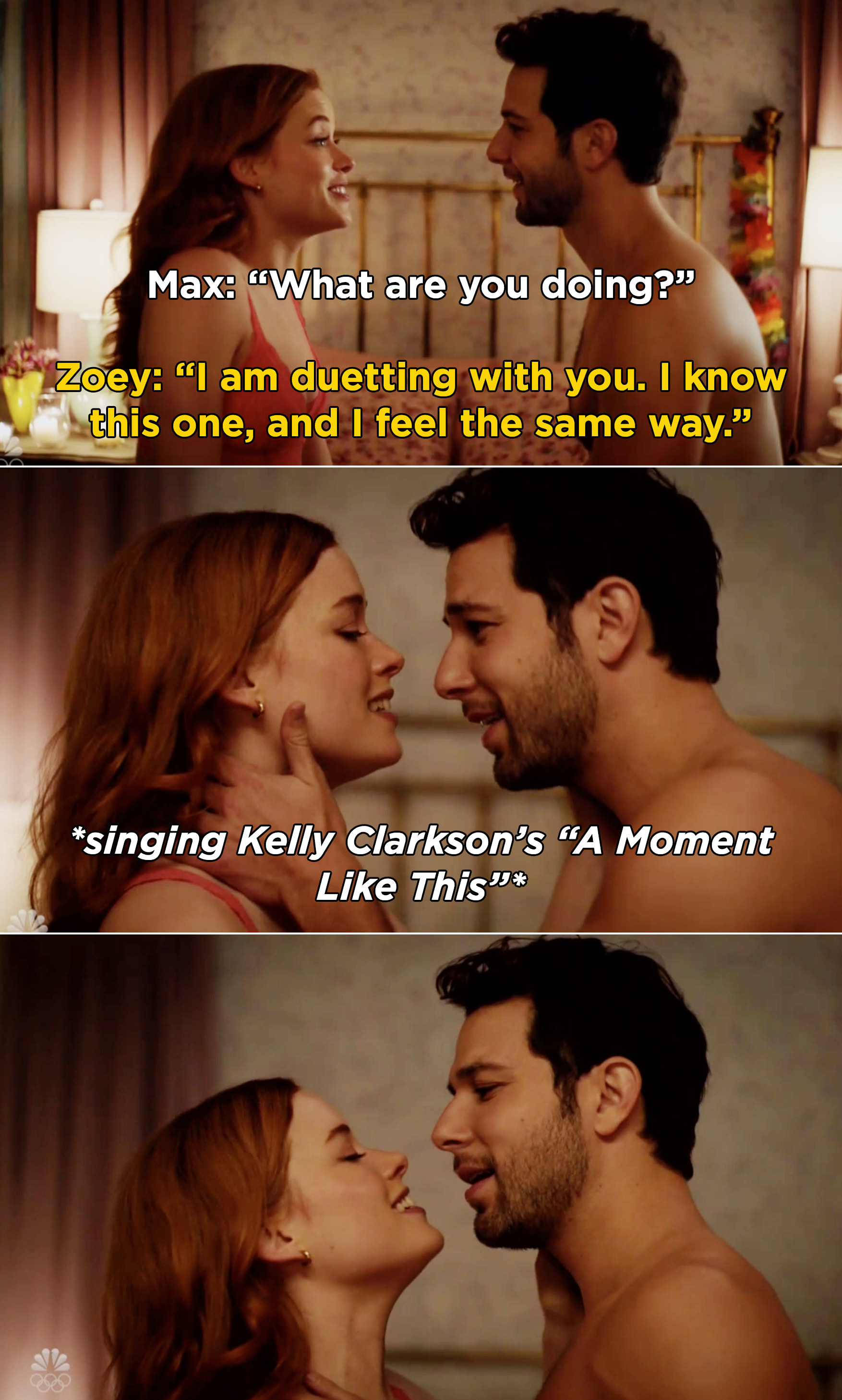 """Max and Zoey singing Kelly Clarkson's """"A Moment Like This"""" together"""