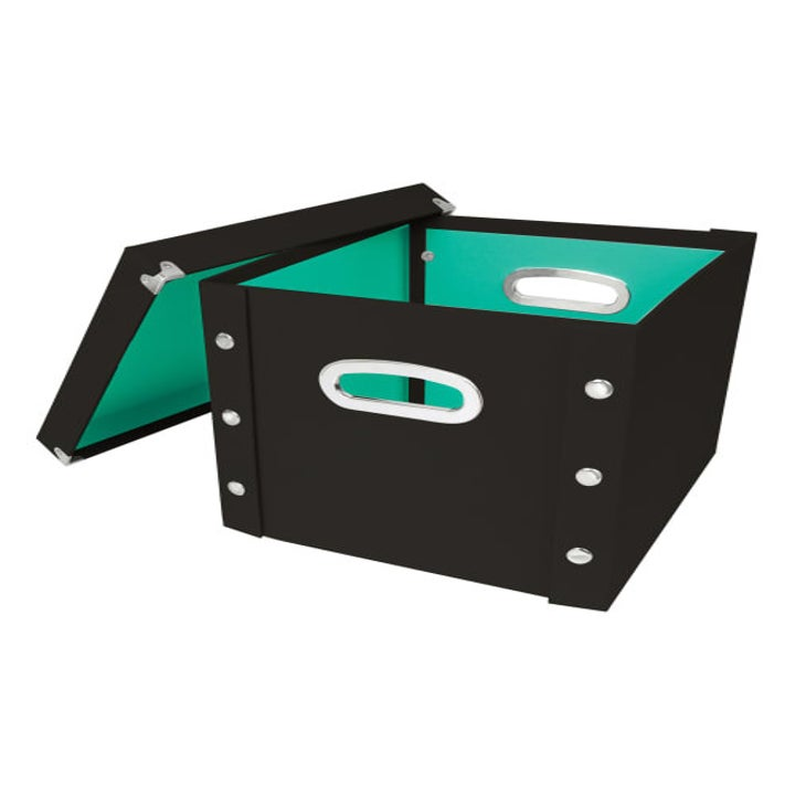 black version of box with teal interior