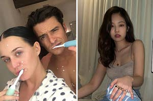 Katy Perry, Orlando Bloom, and Jennie from Blackpink
