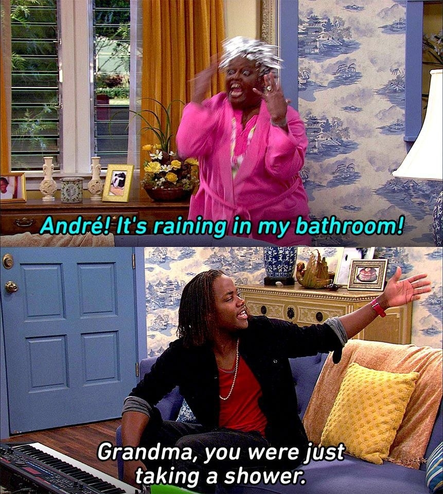 Andre shouting to help his grandma