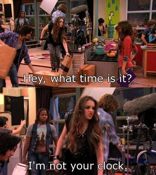"""Jade saying """"I'm not your clock"""" when Tori asks about the time"""