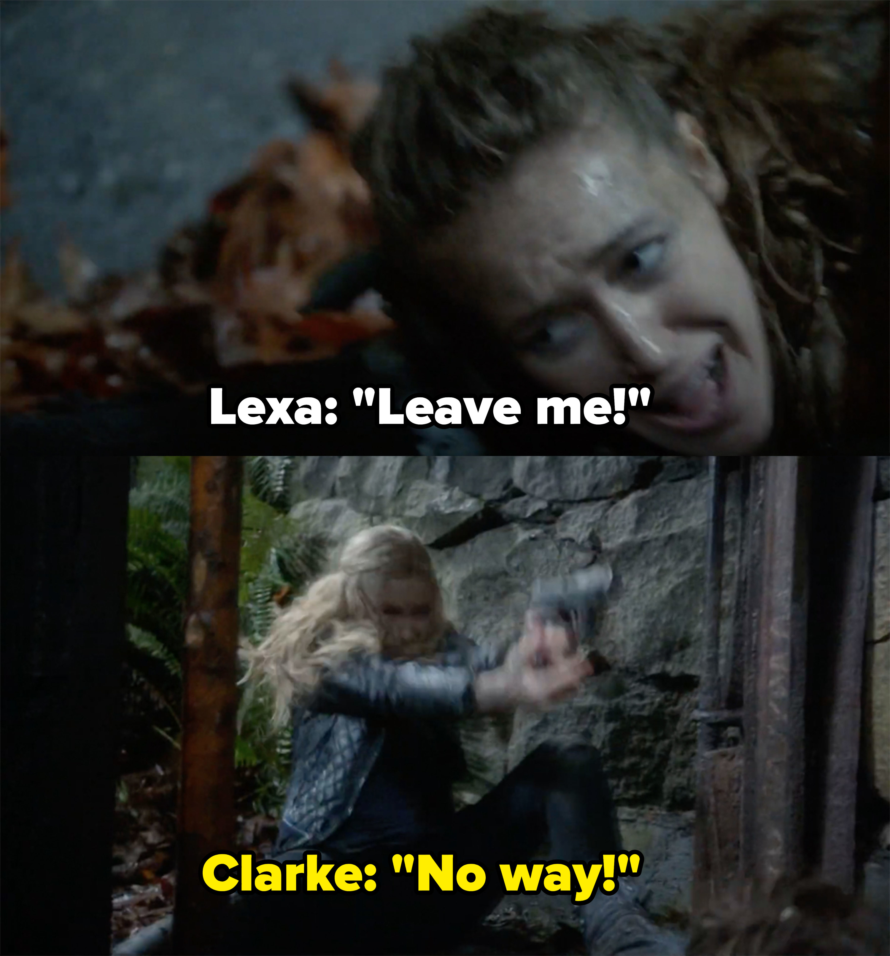 Lexa says to leave her to die, Clarke says no way