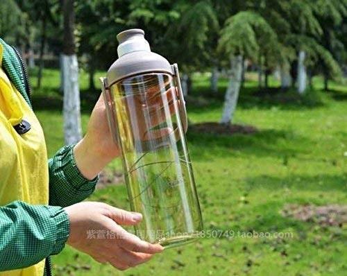 Clear plastic water bottle .