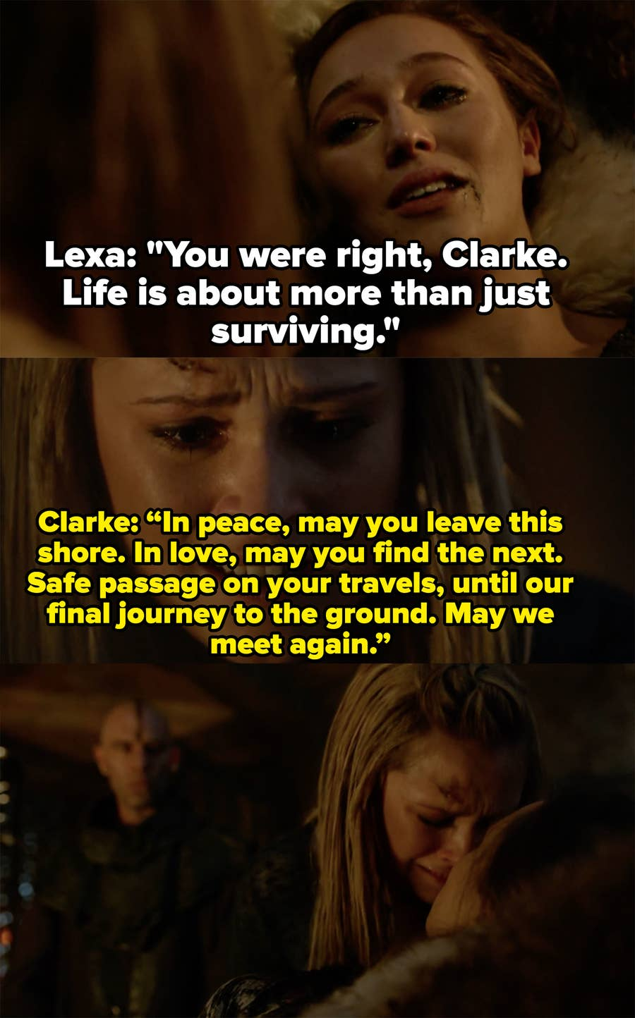 The 100 Clarke And Lexa Best Moments