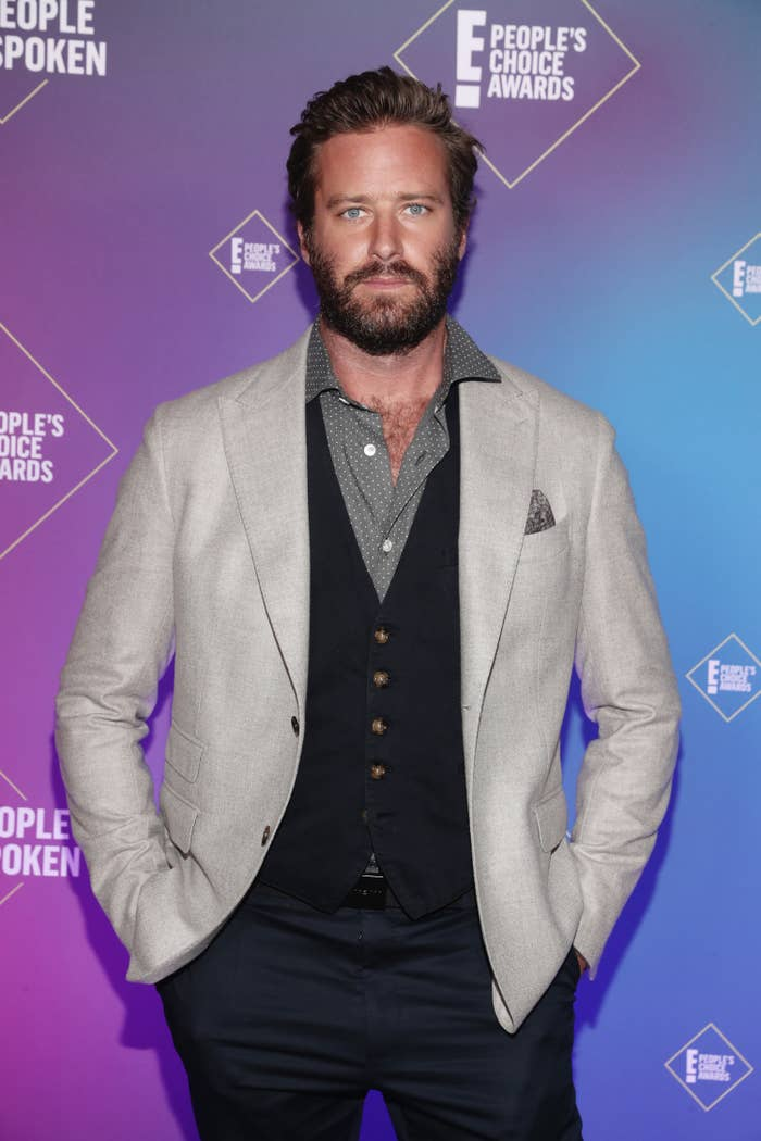 Armie at the E! People's Choice Awards