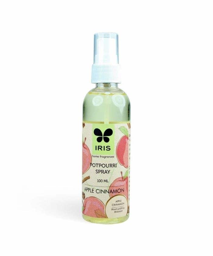 Bottle of the apple cinnamon scented spray