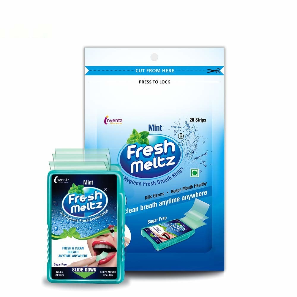 Packaging of the sugar-free breath mints