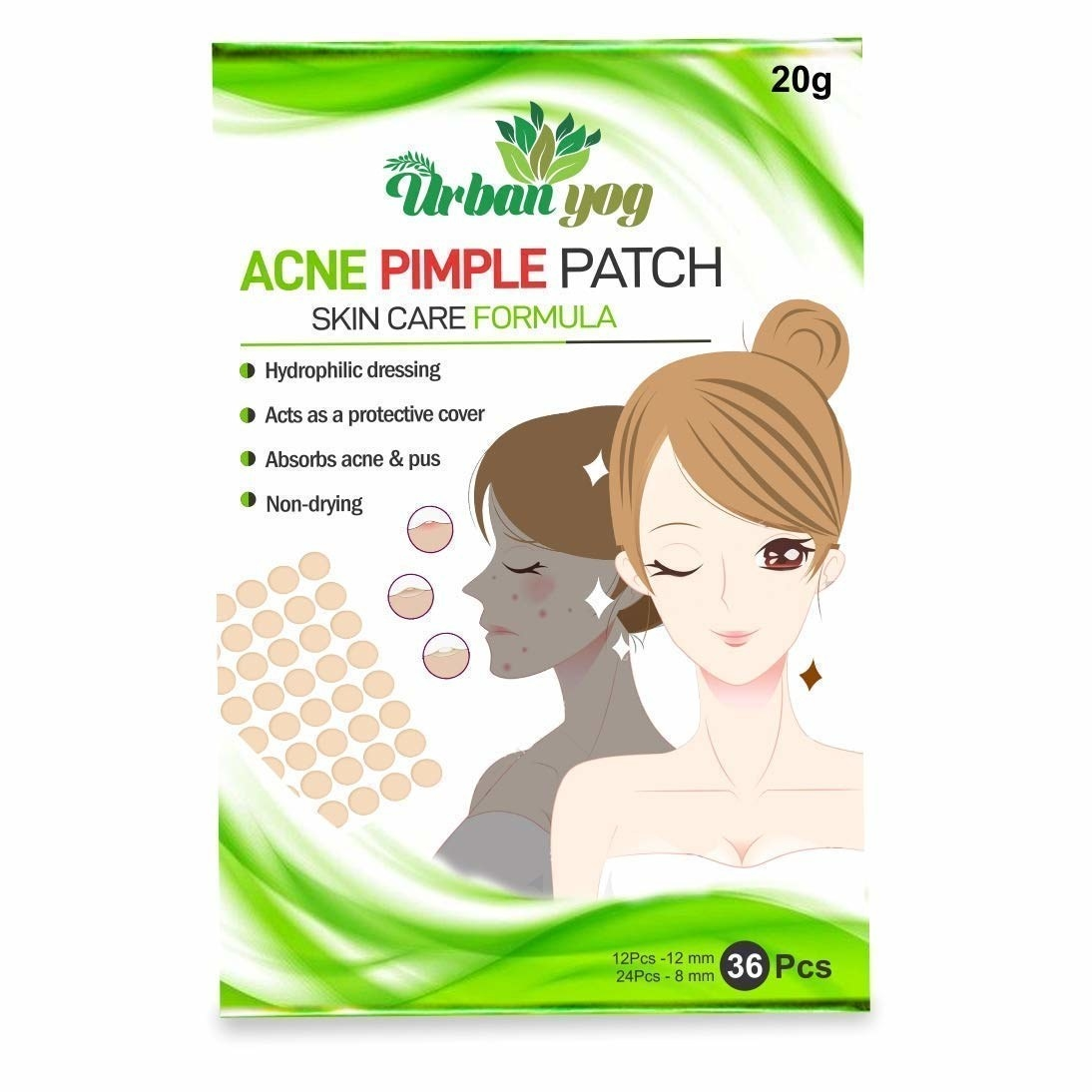 Packaging of the pimple patches
