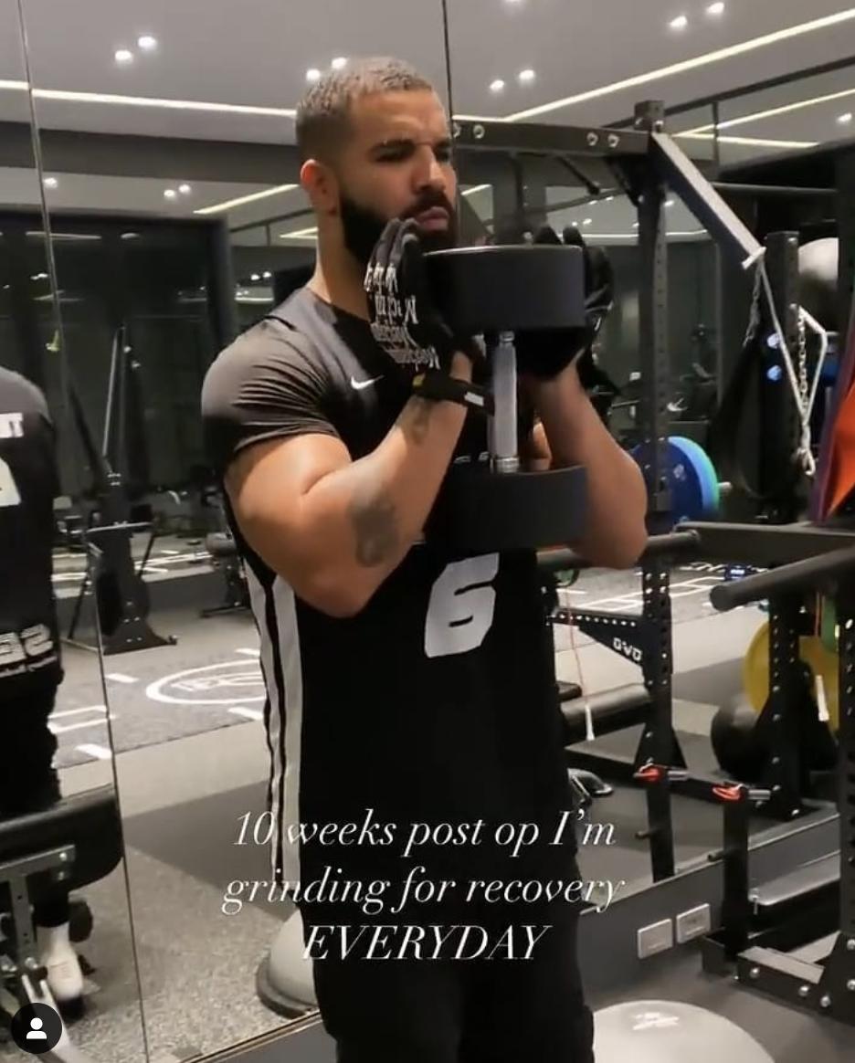 Drake working out