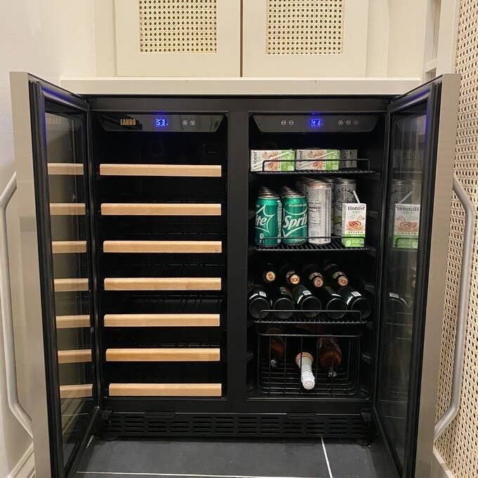 Review photo of the freestanding fridge