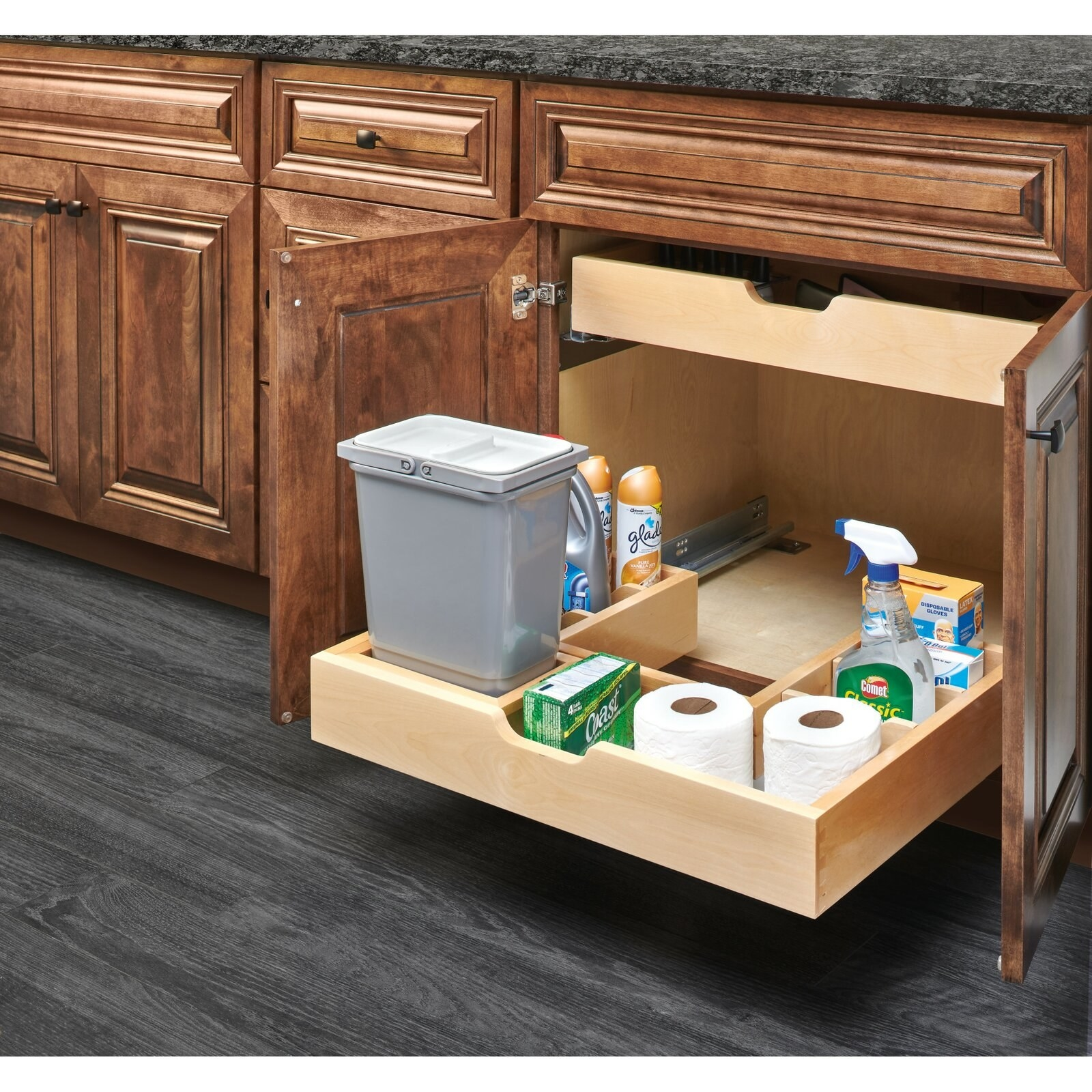 The under sink pull-out pantry