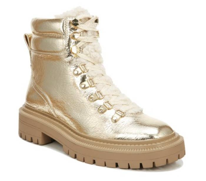 The metallic gold boots