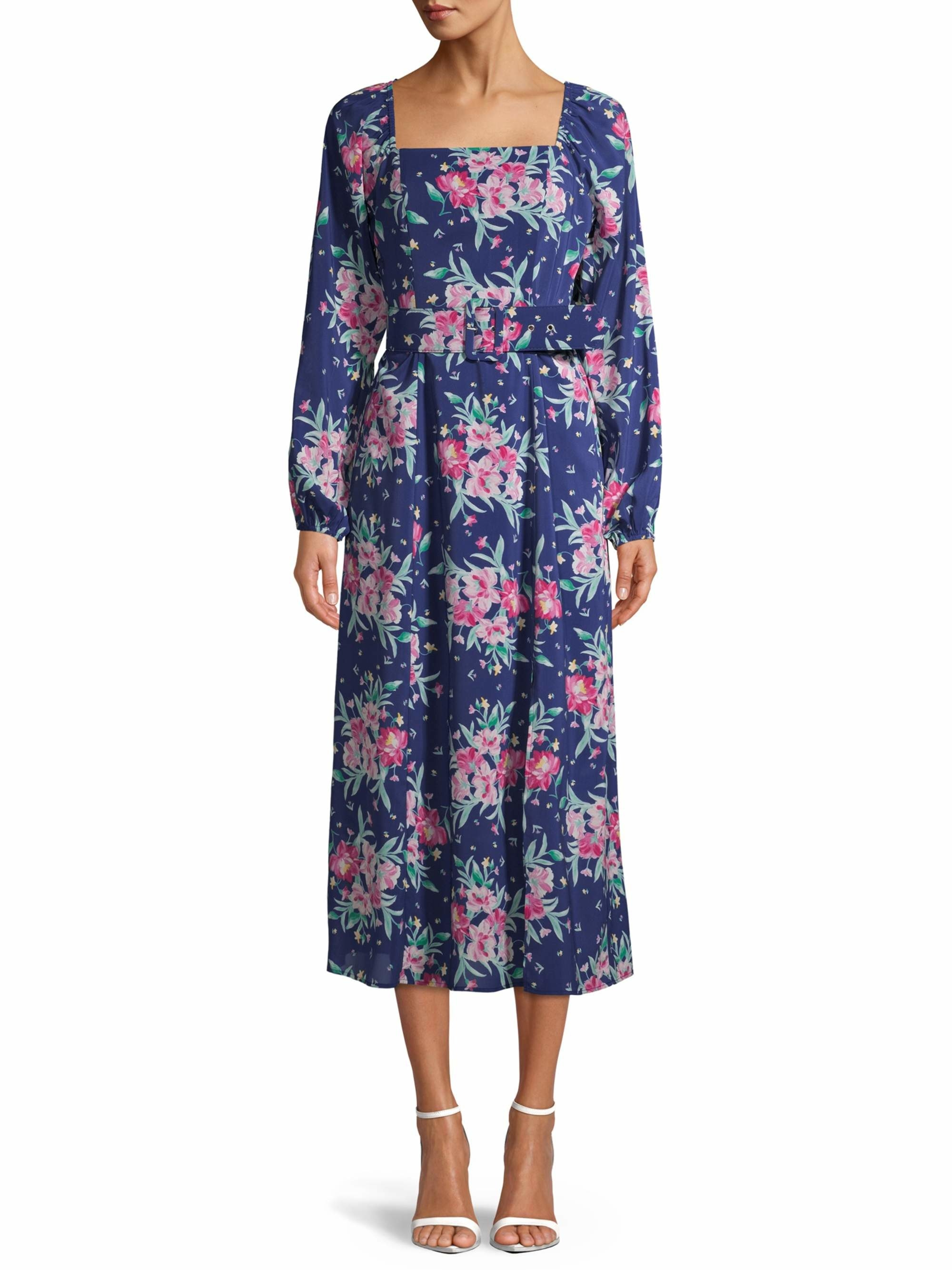 The navy floral dress