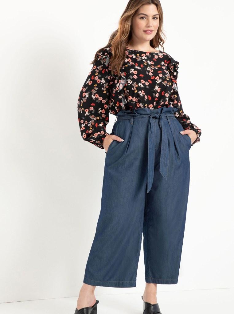 The chambray pants