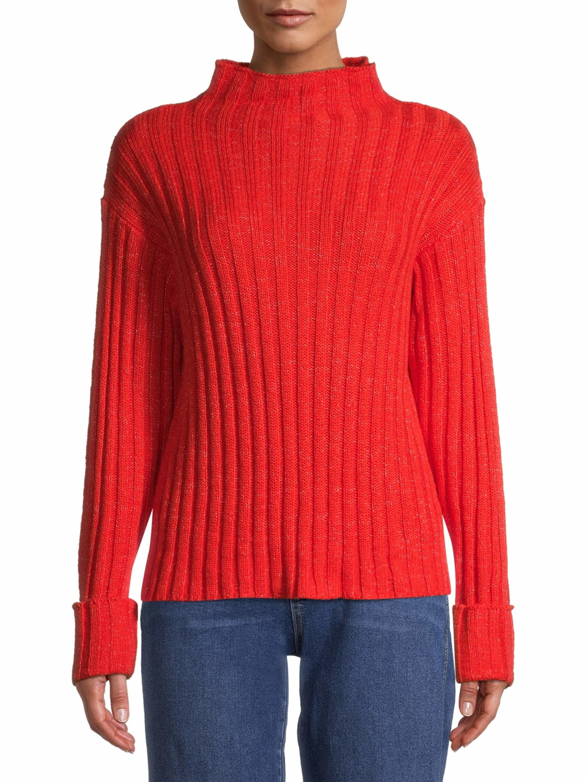 The mock-neck sweater