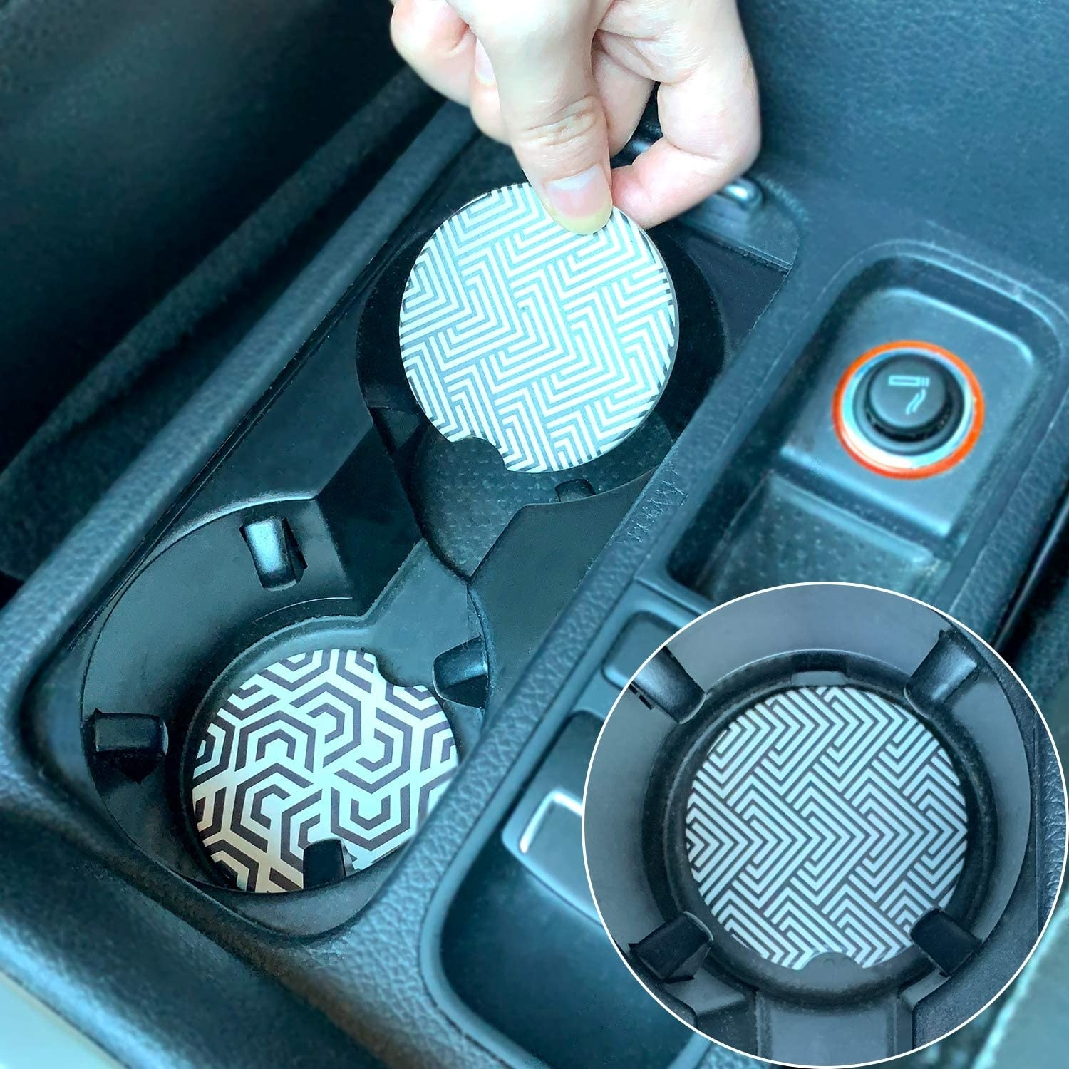 coasters in cup holders