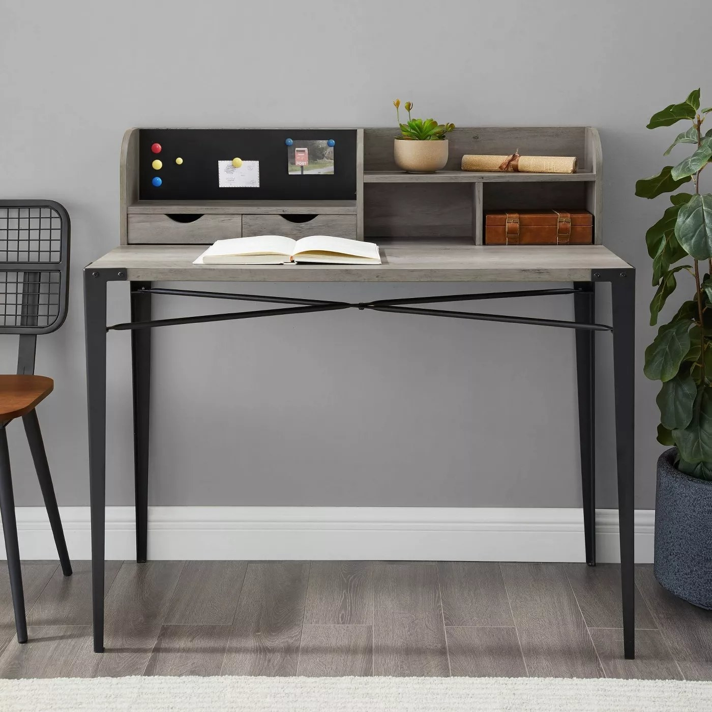 The industrial desk in gray