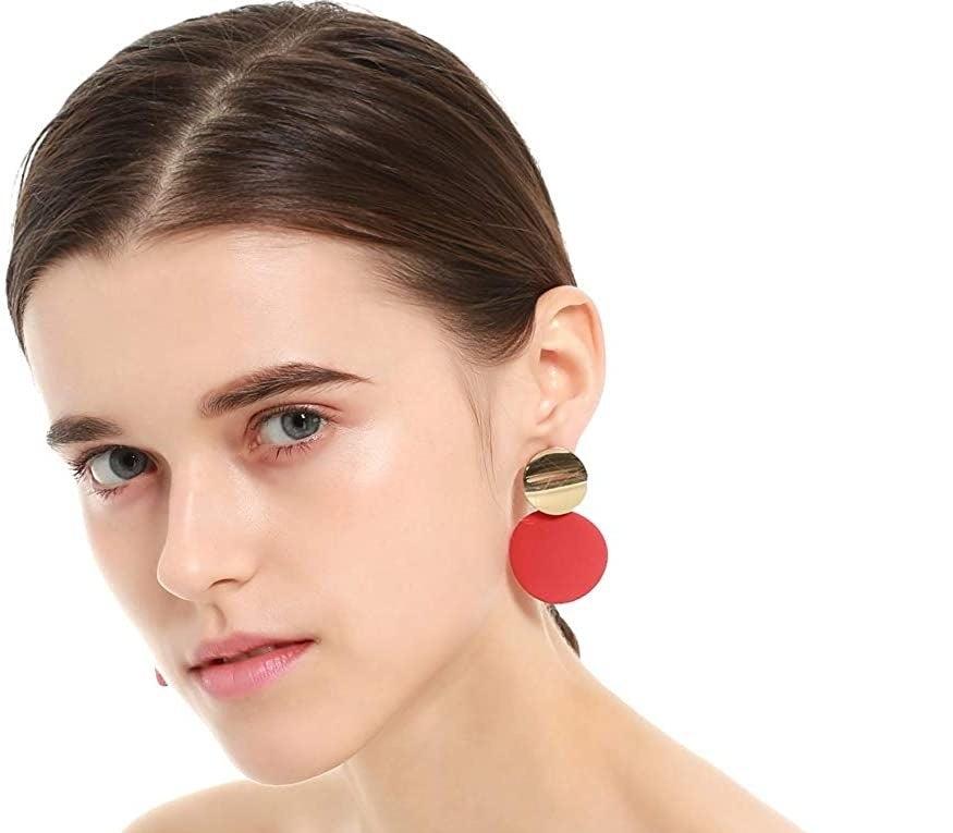 Wedding Earrings Gift-for-Her Valentine/'s Day Gift Statement Earrings Long Red Tassel Crystal Earrings Tassel Statement Jewelry
