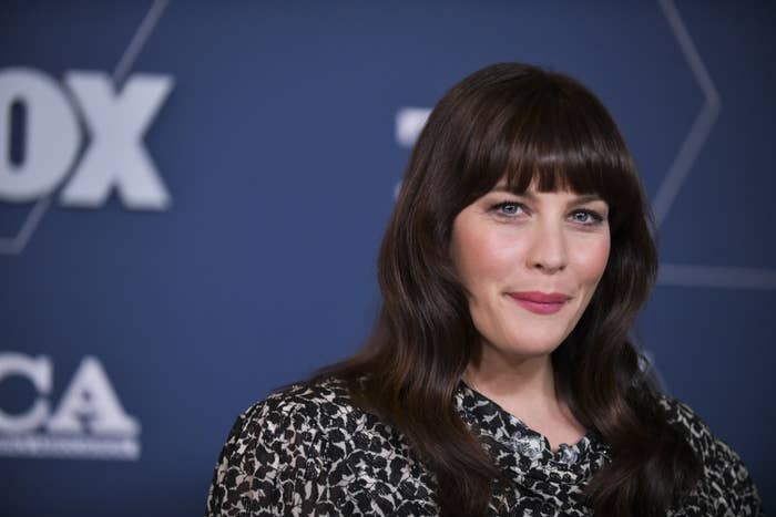 Liv Tyler smiles at the FOX Winter TCA All Star Party in 2020