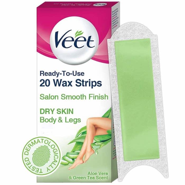 Waxing strips packaging